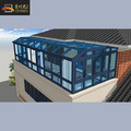 Lowes glass and aluminum weatherproof sun glass rooms for balcony