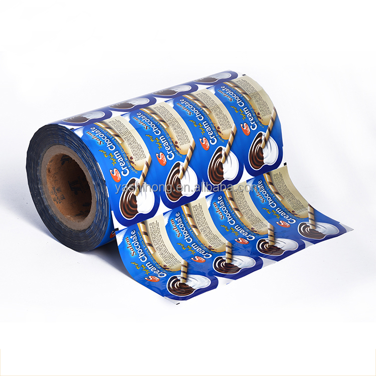 Flexible food laminating plastic film roll ice cream packaging material