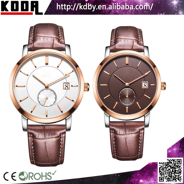 Simple chronograph men watch stainless steel Date Casual Watch Leather cz stainless steel watches