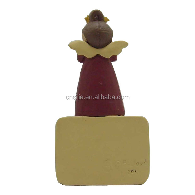"Angel figurine standing on the building block good quality resin crafts ""Dream"" gifts"