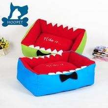 Blue Lovely Shark Shape Dog Bed Blue Funny Dog Bed Blue