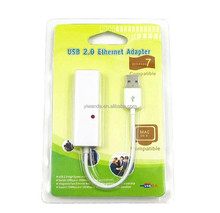 USB 2.0 to Ethernet Adapter 10/100 RJ45 Network Lan Adapter