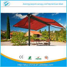 New High qualityNew Aluminum retractable Foxwning Car Side Awning Prefab Electric Retractable door entrance awning