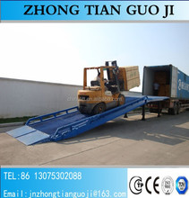 Truck portable loading ramp mobile pump yard ramps mobile container CE BV