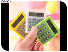 Mini portable plastic Material silicone calculator