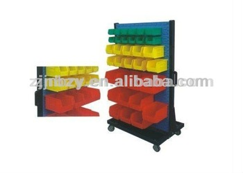 3 Plastic stacking storage bin