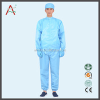 Safety workwear scrub suit that 100% polyester fabric