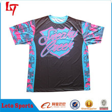 sublimation camo t shirts clothing /Camouflage running shirt/tee party clothing brand