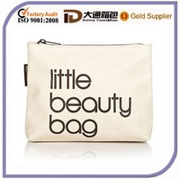 Promotional personalized cheap canvas pouch for cosmetic