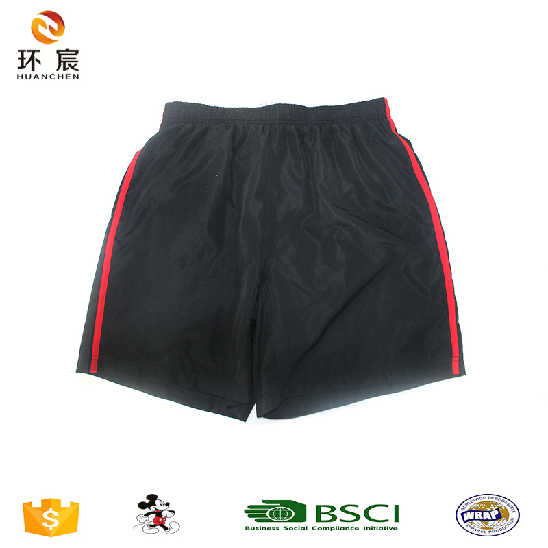 Hot Sale Men All Black Red Bindging Active Sport Wear