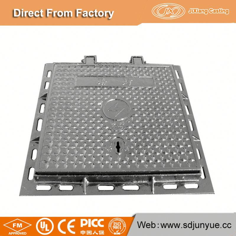 Manufacturer Directly Supply Locking Ductile Cast Iron Manhole Covers Cover En124 D400