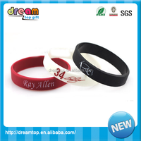 printed basketball wristband boys sport silicone bracelets