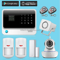 FDL-G90B GSM SMS alarm with big outdoor alarm siren with strobe lighting GSM home automation