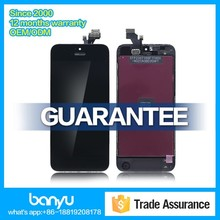 100% original lcd with digitizer assembly for iphone 5 lcd touch screen