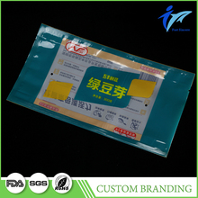 Plastic Packing 3 Side Seal Bag With Logo Printed