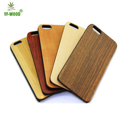 Natural wood cell phone accessory,plain bamboo wood case cover for apple iphone 6plus