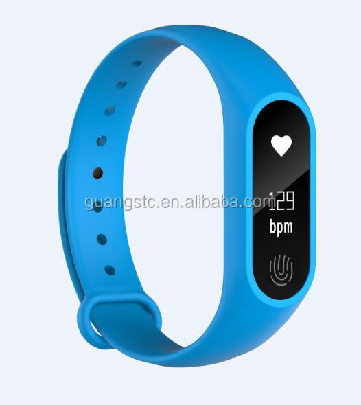 Newest M2 Plus Smartband Bracelet Heart Rate Monitor Sleep monitoring Smartband Support Bluetooth 4.0 IOS 8.0 Wristband Band