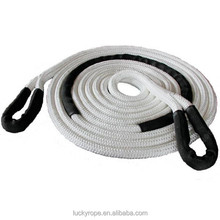 10mm-60mm 5Tons nylon braided sleeve eye splice car tow rope
