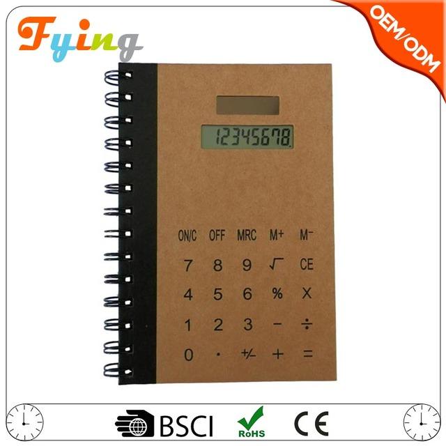 NEW8 digits solar electronic notebook calculator with ballpen kalkulator