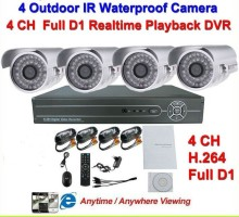 4CH H.264 Full D1 DVR Kit Security 36pcs IR LEDs Nightvision 700TVL 36pcs IR LED Lights Camera Surveillance Video System