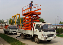 mobile hydraulic truck mounted scissor lifter/man lift