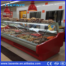 Commercial Air Cooling Cooked Food Refrigerator Supermarket Deli Case Butchery Display Fridges