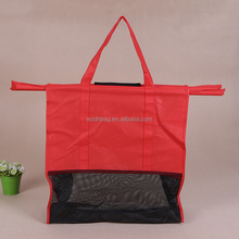 Eco Friendly Trolley Shopping Cart Non Woven Bag Grocery For Promotion, Supermarket