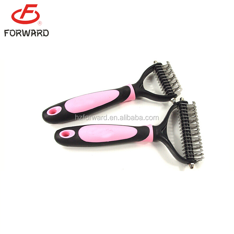 Hot selling pet double side dematting rake comb