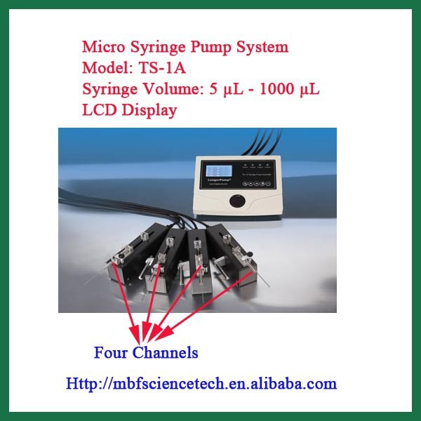 Micro Syringe Pump System, Model: TS-1A, Independent Drive Unit, used in micromanipulator, stereotaxic instrument