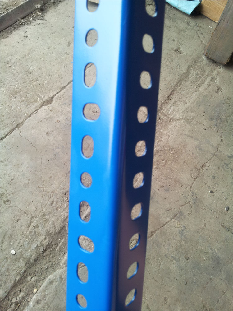 MADE IN CHINA HIGH QUALITY BLUE COLOR POWER COATED SLOTTED ANGLE