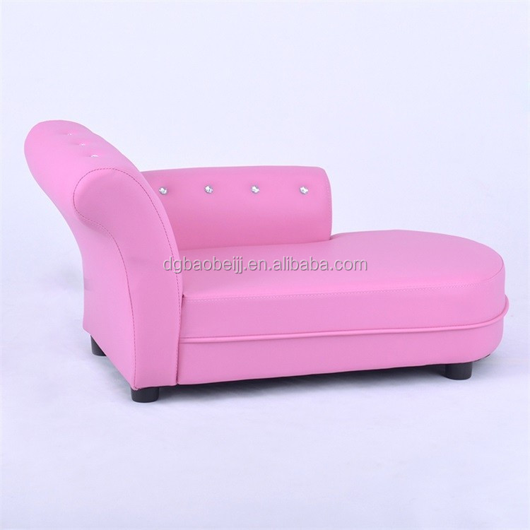 Hot sale pink velvet children chaise lounge chaise loung for Baby chaise lounge