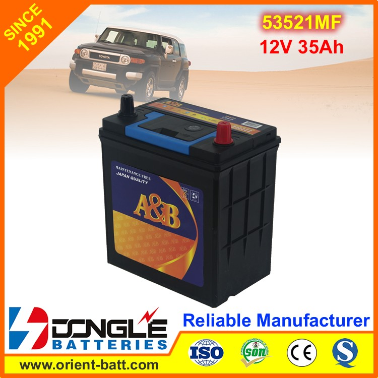 53521MF Reliable Power Needed Universal Automobile Battery