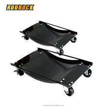 2 pcs Vehicle Wheel Dollies with Cast Iron caster