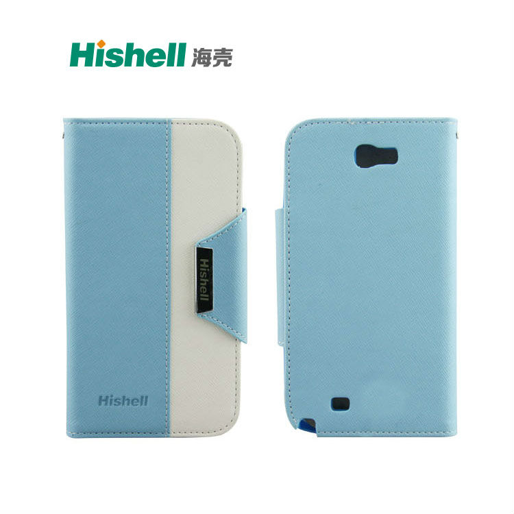Hot selling! High quality Flip PU Leather Stand Case cover for Samsung Galaxy Note 2 II N7100