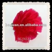 red mother's day crafts feather carnation flowers