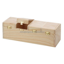 Customized Unfinished 4 Separate Compartments Wood Box For Tea or Seed Box
