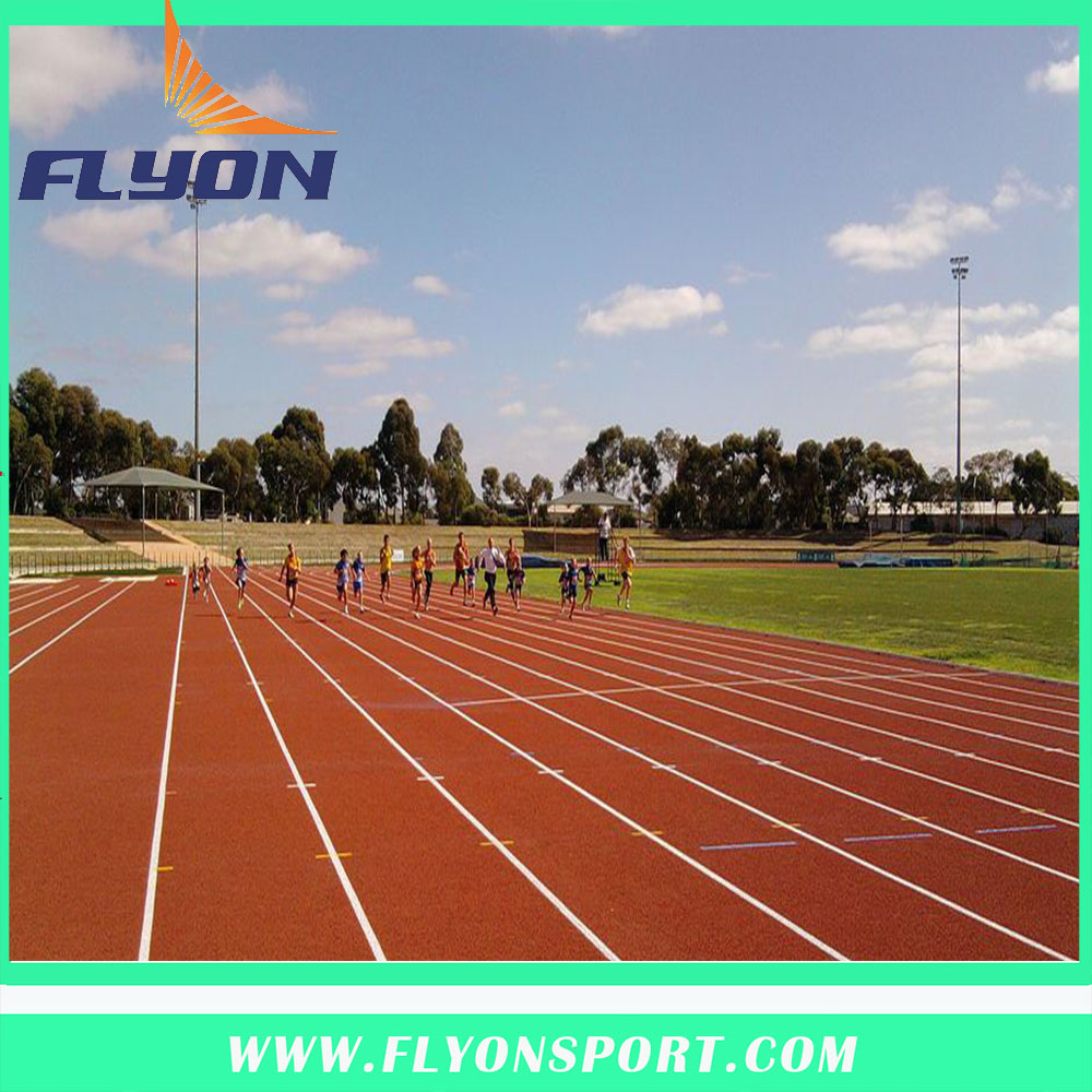 synthetic running track flooring for sports light rubber tracks IAAF 13mm athletic track