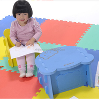 promotion home study eva foam table and chair set for kids, colorful soft foam kids chair and table set for studying
