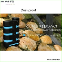 9000mAh waterproof portable powerbank portable mobile battery charger power bank 9000 travel charger for everthing