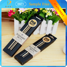 Students high-grade gifts Exquisite packaging writing tools black/golden stripes HB Hexagonal wooden pencil