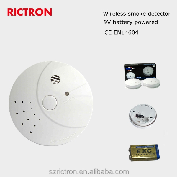 Decorative Wireless Vibration Detector Alarm SMS Wireless Smoke Detector SystemCE EN 14604 Approval