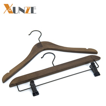 Fashion garment vintage wooden clothes hanger for shirts dresses