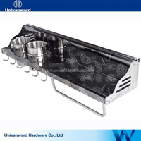 Multi-function stainless steel kitchen accessory kitchen shelf