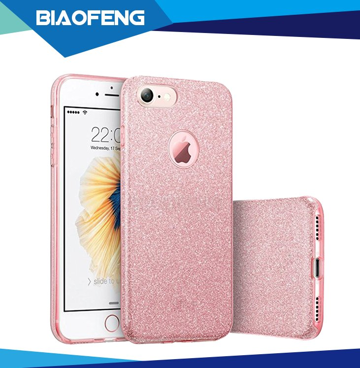 Hot selling hybrid bling glitter soft tpu mobile phone case for apple iphone 7