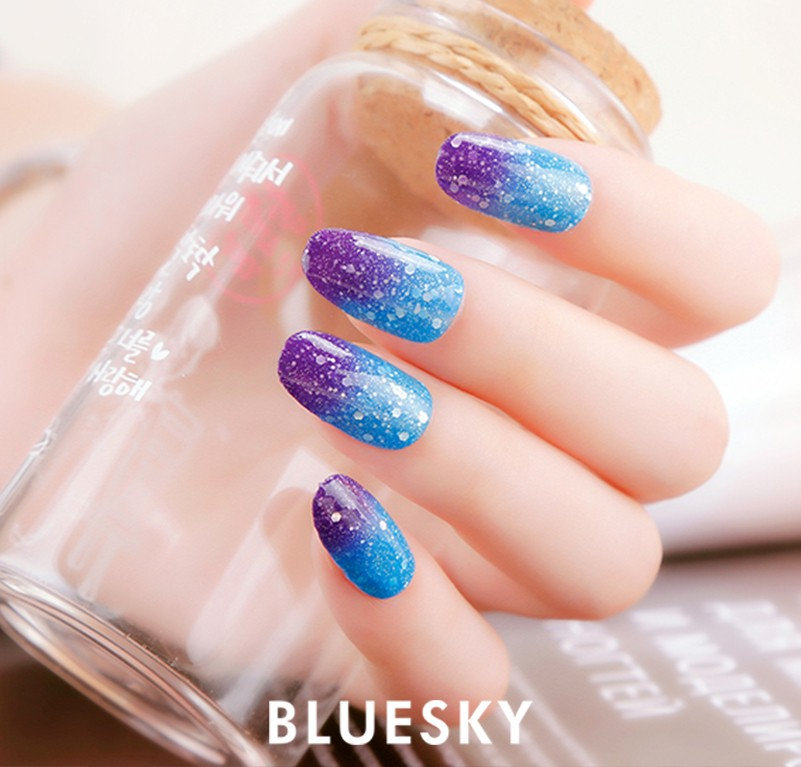 Bluesky Hot Selling Color Changing UV Gel Nail Liquid Spray Polish