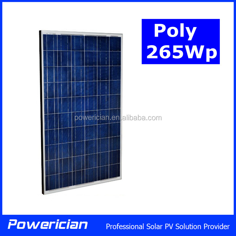 Poly 255Wp 260Wp 265Wp Solar Panel High Efficiency TUV Certificated 10 Years Warranty High Quality Solar Module