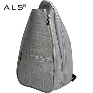 New design function funny silver tennis racket backpack