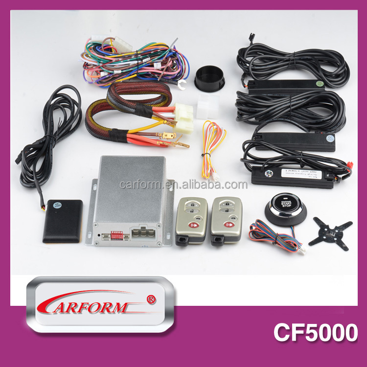 Hot hand free intelligient pke security car alarm system