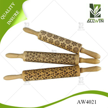 Cooking Kitchen Fondant Wholesale Food Grade Embossing Wood Rolling Pins
