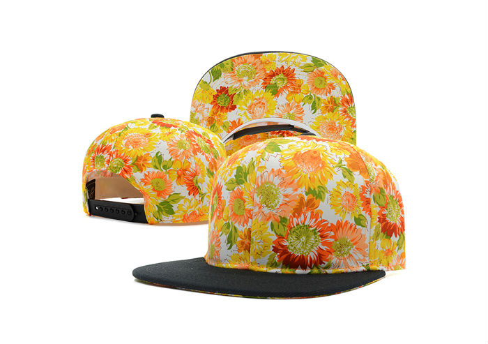 Cheap Fashion Wholesale Flower Floral Print Snapback Hats For Girls